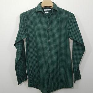 Calvin Klein Button Down Shirt Mens Size 18 Slim